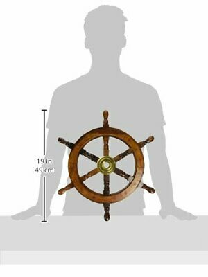 18 Inch Collectible Nautical Wooden SHIP WHEEL Pirate Captain Boat Steering