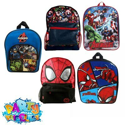 Kids Boys Girls Marvel Spiderman Avengers Backpack Rucksack Marvel School Bag PE