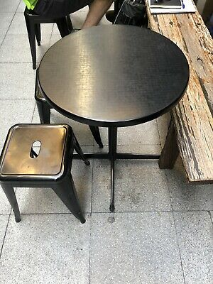 Round black Cafe tables x 4