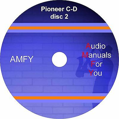 Pioneer servicemanuals, ownersmanuals and schematics on 1 dvd, DISC 2 of 7