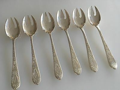 Betsy Patterson Engraved By Stieff /Kirk Sterling Flatware Ice Cream Spoons