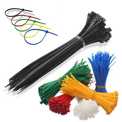 Nylon Plastic Cable Ties Small and Extra Large Zip Ties Wire Wrap 3x100-8x350mm