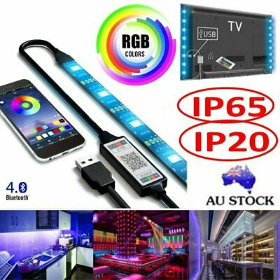 RGB 5050 USB LED Strip Lights Color Changing TV Bar Background Light Music Sync