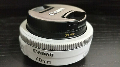 Canon EF 40mm f/2.8 STM Lens Great Condition + B+W Filter