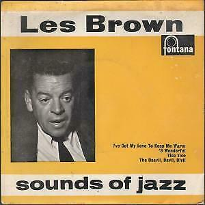 """LES BROWN AND HIS BAND OF RENOWN Sounds Of Jazz 7"""" VINYL UK Fontana 4 Track EP"""