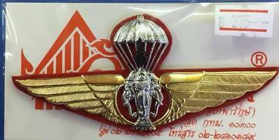 ROYAL THAILAND ARMY Parawing pin Airborne wings Balloon Blue