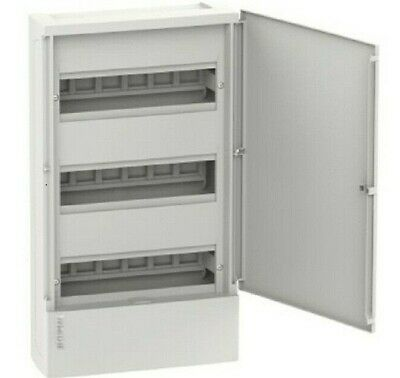 Clipsal RESI MAX SWITCHBOARD ENCLOSURE 3-Rows 12-Modules, Flush Mount*Aust Brand