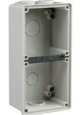 Clipsal EASY-56 ENCLOSURE 198x101x63mm 2-Gangs Surface Mounting, Grey*Aust Brand