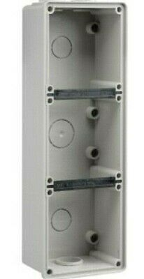 Clipsal EASY-56 ENCLOSURE 294x101x63mm 3-Gangs Surface Mounting, Grey*Aust Brand