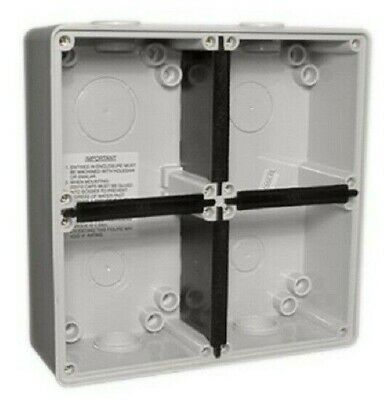 Clipsal EASY-56 ENCLOSURE 198x198x63mm 4-Gangs Surface Mounting, Grey*Aust Brand