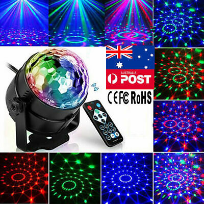 Disco Party DJ LED RGB Stage Effect Light Lamp Laser Crystal Magic Ball AU Plug