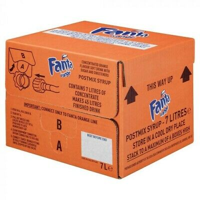7ltr Fanta Bag In Box (Post Mix Syrup) - Minimum 4 weeks date guarantee