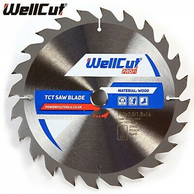Circular Saw Blade WellCut TCT Saw Blade 190mm x 24T x 16mm Bore CLEARANCE