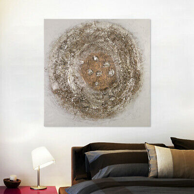 100% Hand-Painted Oil Painting - Nest | Modern Abstract Wall Art Canvas Framed