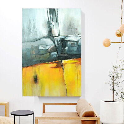 *Metope* Hand Painted Oil Painting Stretched Canvas Home Decor Art - Framed
