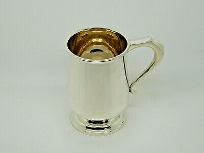 Antique Silver Pint Mug / Tankard Birmingham 1930 – A & J Zimmerman Ltd 300g