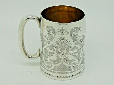 Antique Silver Mug / Tankard London 1910 – Josiah Williams & Co