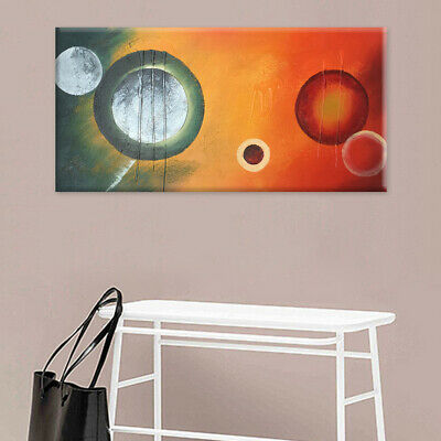 Framed Hand Painted Modern Abstract Oil Painting Stretched On Canvas Home Decor
