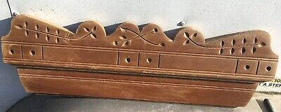 "Vtg Architectural Wood East lake Molding PEDIMENT HEADER Salvage 27"" Repurpose"