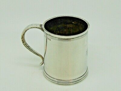 Antique Silver Mug / Tankard Sheffield 1906 – Henry Stratford Ltd 166g Quality
