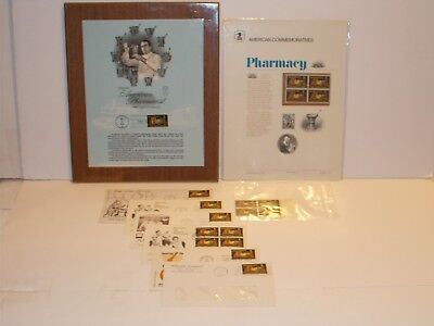 """""""1972"""" Dated First Day Of Issue U.S. Postage 8 Cent Pharmacy Stamp Collection!"""