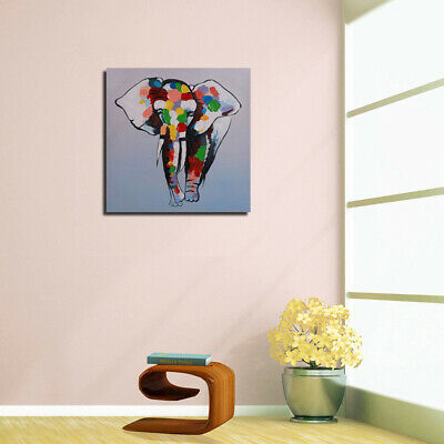 Elephant Hand Painted Oil Painting Stretched Canvas Wall Art Home Decor Framed