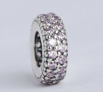 Authentic Pandora Silver Pink CZ Inspiration Within Spacer 791359PCZ