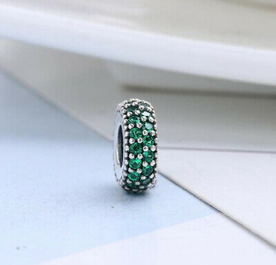 Authentic Pandora Silver Inspiration Within Dark Green Spacer 791359CZN