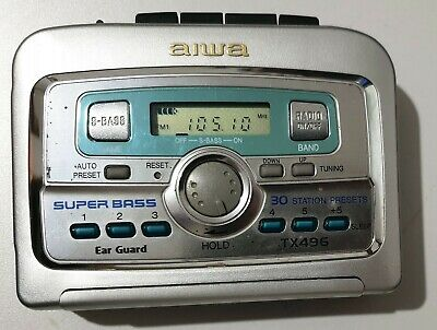 Vintage AIWA TX496 AM / FM Stereo Radio Compact Cassette Personal Tape Player