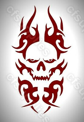 CELTIC/GOTHIC/TRIBAL melinex SKULL STENCIL  A5/A4 *NEW 190 micron *