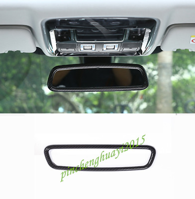 ABS Carbon Fiber Interior Rearview Mirror Frame Trim For Range Rover Sport 14-16