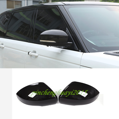 ABS Carbon Fiber Door Rearview Mirror Cover Trim For Range Rover Sport 2014-2019