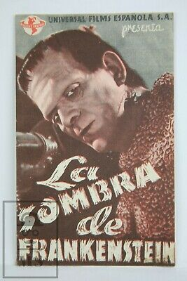 1939 Son of Frankenstein Movie Advert. Leaflet - Boris Karloff, Basil Rathbone
