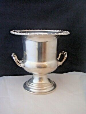 Quality Vintage Silver Plate Wine Cooler Stylish A Beauty For Your Prosecco
