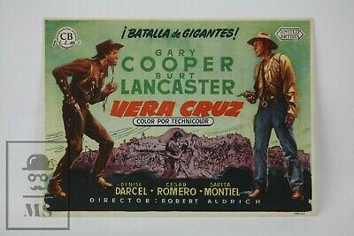 1954 Vera Cruz Movie Advertising Leaflet - Gary Cooper & Burt Lancaster