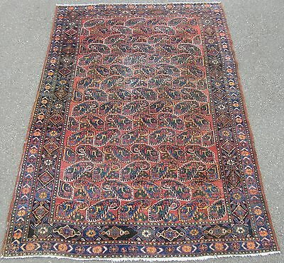 Rare Pattern Antique Country House Shabby Chic Persian Afshar Rug