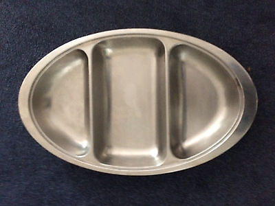 LARGE CATERING CASSEROLE STAINLESS STEEL SERVING DISH LENGTH 515mm WIDTH 310mm