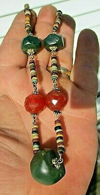 Rare Ancient Egyptian Roman Faced Bead Necklace Old Kingdom  Clark Collection