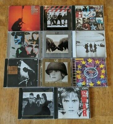 U2 11 CD Lot Achtung Baby Pop War Zooropa The Joshua Tree Rattle And Him B-Sides
