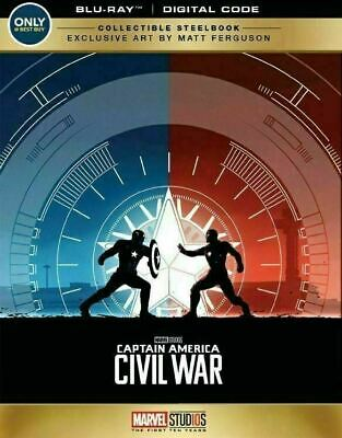 Captain America: Civil War - Limited Edition Steelbook [Blu-ray] New & Sealed!!