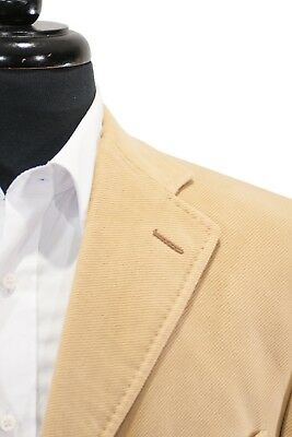 Pal Zileri Concept Light Brown Ribbed Cotton Twill Blazer 42R 8106