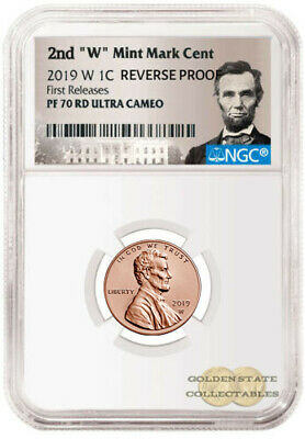 """PRESALE- 2019 2nd """"W"""" Penny NGC PF70 RD UCAM Rev. Proof First Releases Lincoln"""