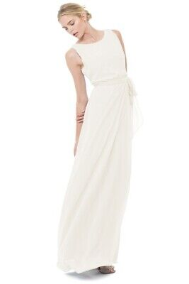 d877b4174f85 NWT Ceremony by Joanna August 'Tina' Tie Back Chiffon Gown size Small $285