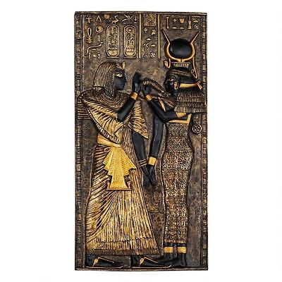 Egyptian Goddess Isis Relief Frieze Plaque Wall Sculpture