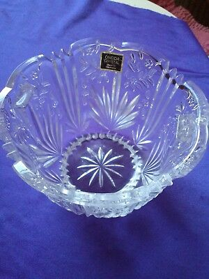 "Oneida Crystal Made in Germany 5"" Serving Bowl W/Tag -  Condition is Excellent"