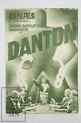 French 1932 Danton Movie Advertisement Leaflet - André Roubaud, Jaques Gretillat