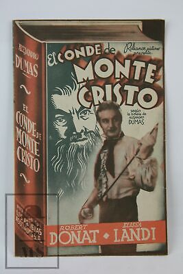 1934 The Count of Monte Cristo Movie Advertising Leaflet - Robert Donat