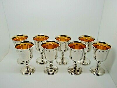Antique Silver Goblets Set of eight London 1971 – William Walter 1,233g QUALITY