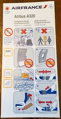 Air France - (Skyteam) - Airbus A 320- Safety Card - Consignes 03/2009