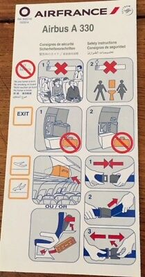 Air France - (Skyteam) - Airbus A 330- Safety Card - Consignes 03/2014